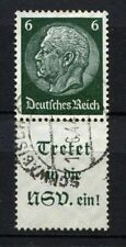 German Reich WW II : Very nice Hindenburg Se-Tenant from 1939 - 6 Pf- used