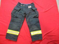 Morning Pride Fire Fighter Turnout Pants 32 X 27 Black Bunker Gear