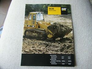 1994 CAT Caterpillar 963B track loader brochure