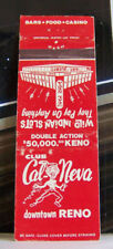 Rare Vintage Matchbook Cover S1 Reno Nevada Cal Neva Indian Bar Keno Gambling