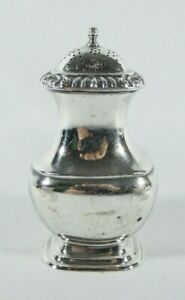 Antique Art Deco 1930 Hardy Bros Silver Plated Salt Pepper Pot Shaker Sheffield