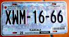 TLAXCALA MEXICO License plate Expired Graphic Background PEOPLE- XWM-16-66