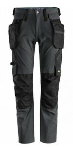 SNICKERS 6208 LiteWork Trousers+ Detachable Holster Pockets Steel Grey/Black 15