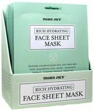Trader Joe's Rich Hydrating Face Sheet Mask Soothing Natural Cucumber Fragrance