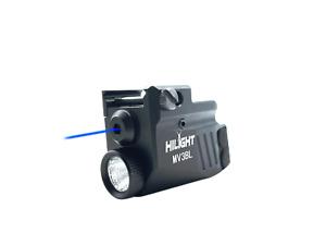 HiLight MV3BL Blue Laser Sight Flashlight Combo for Pistol Handgun Low Profile