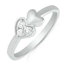 Mahi Rhodium Plated Forever Endearment Finger Ring with CZ for Women FR1100493R
