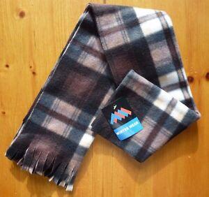 """NWT Unisex Warm Winter Polyester Plaid Scarf 10"""" x 60"""""""