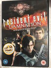 Resident Evil: Damnation DVD (2013) Makoto Kamiya cert 15 FREE