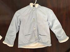 Strasburg 18M Hooded Light Blue Coat Jacket Fleece Lined Soft Polyester Boutique