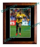 KURTLEY BEALE AUST WALLABIES 2011 WORLD CUP A3 PHOTO 1