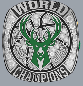 2021 Milwaukee Bucks NBA CHAMPIONSHIP RING FUN 8-13 size