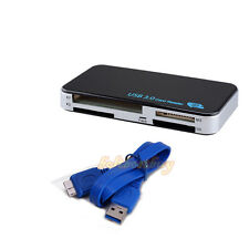 USB 3.0 ALL IN 1 MULTI MEMORY CARD READER READS COMPACT FLASH SDHC XC XD CF UK