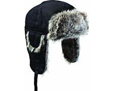 Dickies Warm Fleece & Fur Lined Black Trapper Hat HA8001