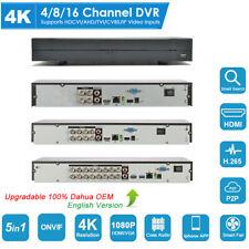 Dahua Oem 4Ch/8Ch/16Ch 4K H.265 Dvr Cvi/Tvi/Ahd/Cvbs/Ip Digital Video Recorder