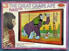 SEALED Vintage 1976 Arrow The Great Grape Ape Felt Picture Kit Hanna-Barbera