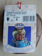 NEU Puppenperücke Meinesz lockiges Kurzhaar rötl. blond  für KU 23 cm-24 cm