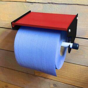 Industrial Blue Roll Paper Towel Dispenser Holder Workshop Garage Clean Station