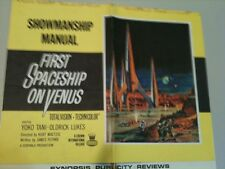 Pressbook First Spaceship on Venus Large size 16 1/2 in by 15 in, VG-F 8 pages