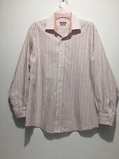 Kenneth Cole Men's 16 1/2 - 32/33 Dress Shirt Regular Fit Striped Multicolor