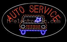 LED Schilder Auto Service Leuchtreklame neon XL Schild 58X32cm Blinken Oval Form