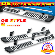 "For 99-16 Ford F250 Superduty Crew Cab 6"" Running Board Nerf Bar Side Step S/S V"