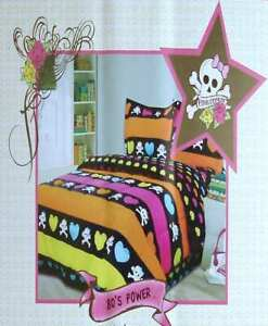 PINK COOKIE 80s POWER TWIN XL COMFORTER SHEETS 6PC BEDDING SET NEW