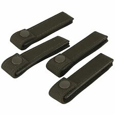 "New CONDOR 4 Pack BLACK 4"" MOLLE MOD Tactical SWAT Modular Web Straps Gear #223"