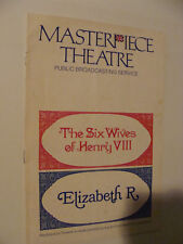 Six Wives of King Henry VIII, Elizabeth R PBS 1970/71 Masterpiece Theatre Guide