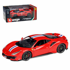 Bburago 1:24 Ferrari 488 Pista Diecast Metal Model Car Roadster New in Box Red