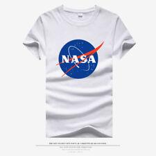 Men New Cool NASA Logo SPACE ASTRONAUT Short Sleeve T-shirt tee Round neck