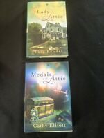 """Two """"ANNIE'S ATTIC MYSTERIES"""" hardcover books"""