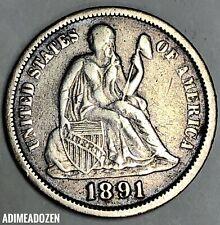 1891-O 10C Liberty Seated Dime Ml2694Vh