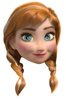 Anna from Frozen Officially Licensed Disney Single 2D Card Party Fun Face Mask