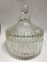 Glass Glassware Candy Jag Bowl Round with lid 10cm