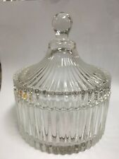 Glass Glassware Candy Jag Bowl Round with lid 7cm