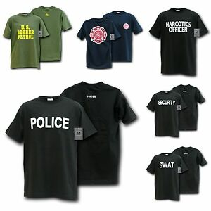Law Enforcement Police SWAT Security Narcotics Fire Department T-Shirts