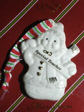 LENOX MERRILY YOURS SNOWMAN SPECIAL TEACHER HOLIDAY CHRISTMAS ORNAMENT NEW