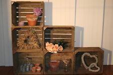 VINTAGE IN LEGNO mela / frutta CRATE, RUSTIC VECCHIO ingiustificata modestia BOX, shabby chic Storage