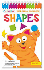 NEW 22pg Shapes Wipe-clean Book Preschool Teaching Materials Travel-size Age 3+
