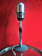 Vintage 1960's Argonne AR-57 dual crystal microphone pill Japanese RCA w stand