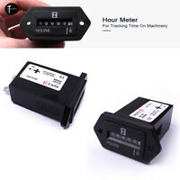 1Pcs Rectangular Hour Meter for Engine Truck Tractor Diesel Lawn Mower DC10-80V