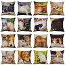 """18"""" Retro Cat Print Cotton Linen Pillow Case Sofa Cushion Cover Throw Home Decor"""