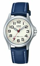 Lorus Sports Ladies or Youth Watch Cream Dial with Blue Leather Strap RRS55VX9