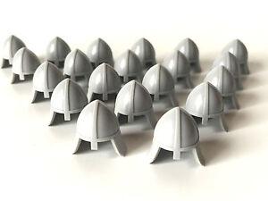LEGO ®  20 x Ritterhelm mit Nackenschutz in hell grau  , NEUWARE