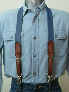 Re-purposed Vintage Levi Jeans Denim Suspenders