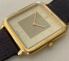 Vintage Titan India Men Ultra Thin Gold Plated Analog Quartz Watch Hour~New Batt