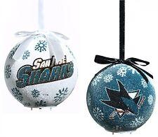 San Jose Sharks LED Ball Ornaments Set of 6