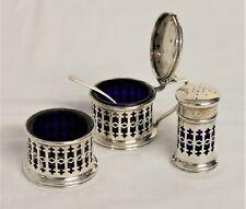 Sterling Silver Cruet Set - Birmingham 1923 -Thames Hospice
