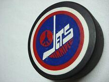 VINTAGE NHL WINNIPEG JETS OFFICIAL TRENCH MFG BLACK GENERAL TIRES HOCKEY PUCK