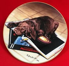 Larry Chandler Loveable Labs Collector Plate, Science Lab, Labrador Pup, Lenox